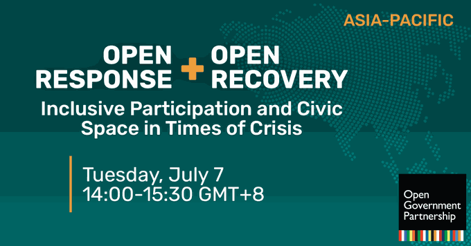 Open Response + Open Recovery: Inclusive Participation and Civic Space in Times of Crisis