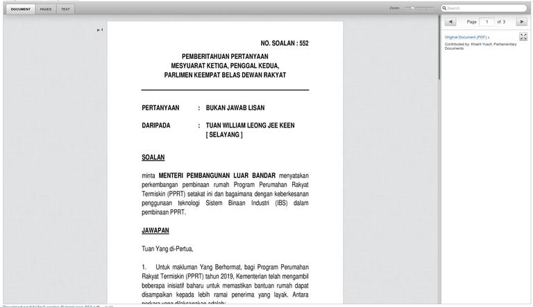 Parliamentary Documents
