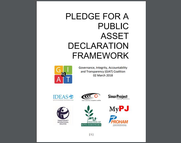 Pledge For A Public Asset Declaration Framework