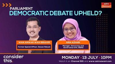 #ConsiderThis: Parliament: Democratic Debate Upheld?